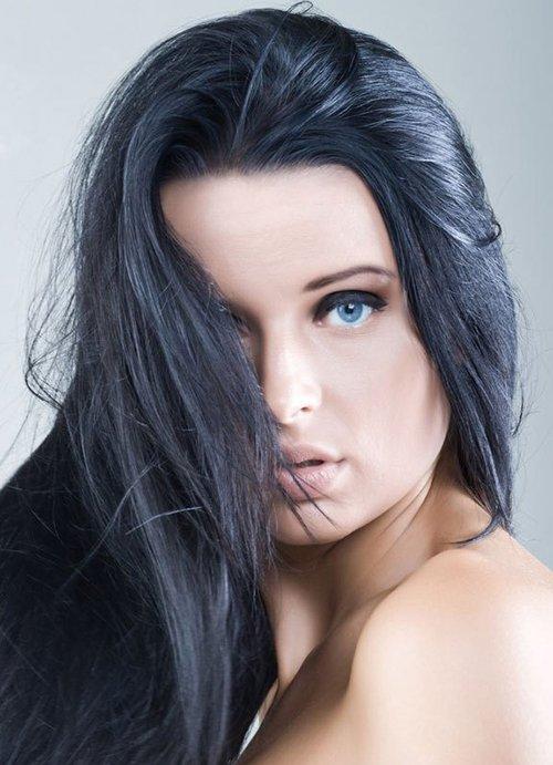 Черный-пепельный цвет волос