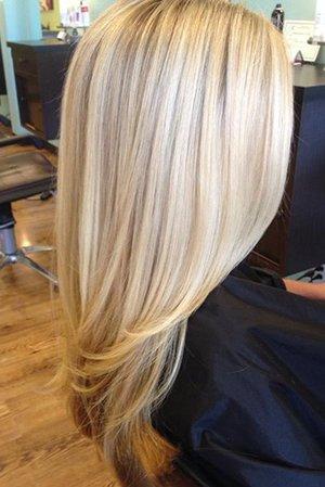 3д на светлые волосы