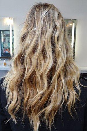 Мелирование на длинных волосах