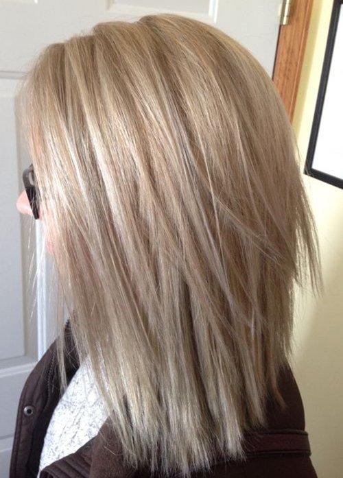 Пепельный цвет волос с мелированием