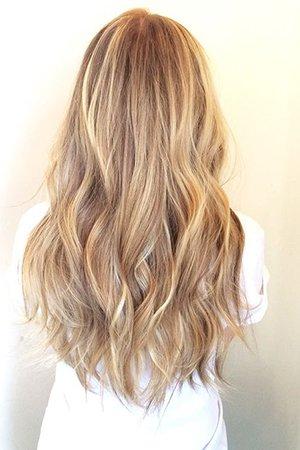 Калифорнийское мелирование на русые волосы