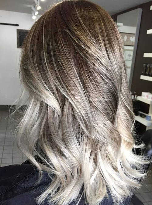 жемчужный пепельный цвет волос фото