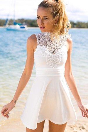 Белое платье Skater