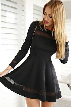 Платье скейтер черного цвета