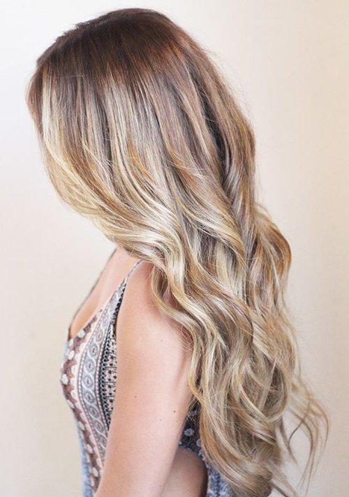 Фото пшеничного окрашивания волос