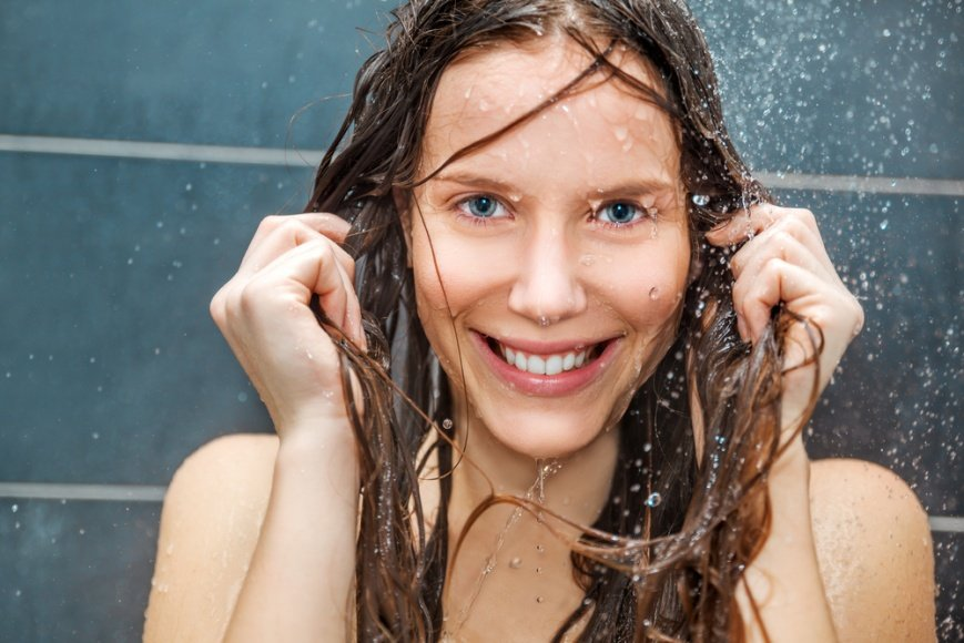 Контрастный душ для волос