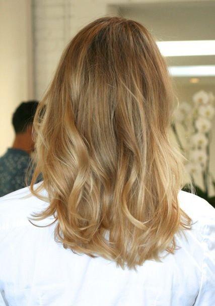 Фото пшеничного цвета волос