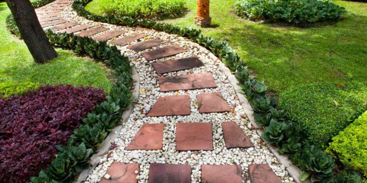 дизайн садовых дорожек на дачу