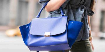 сумка синего цвета