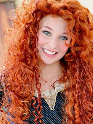 Ярко-рыжие волосы