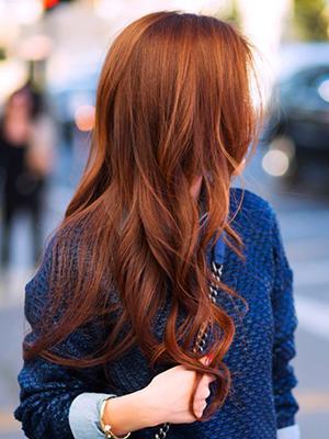 Длинные рыжие волосы