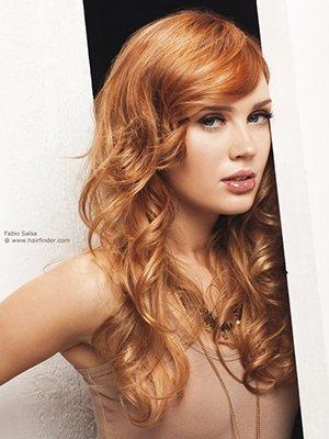 Фото рыжего оттенка волос