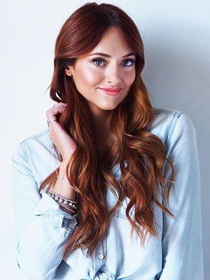 Темно-рыжий оттенок волос