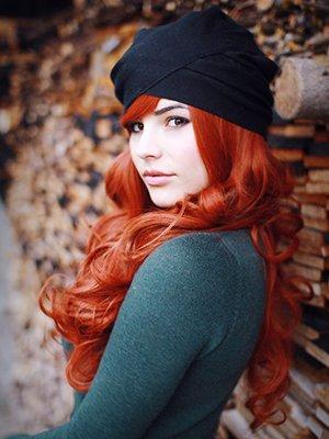Окрашенные волосы в рыжий цвет