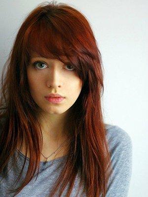 Рыжий цвет волос с зелеными глазами