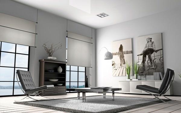 Дизайн гостинной с плакатами