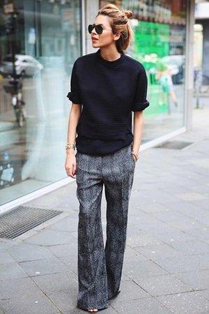 Черно-серый комплект одежды