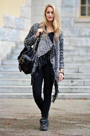 Сочетание черного и серого цвета в одежде
