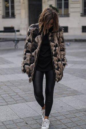 Носить леггинсы зимой