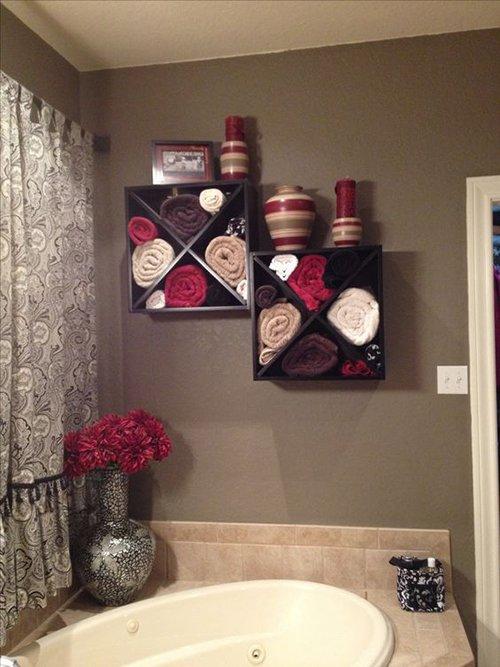 Декор ванной полотенцами