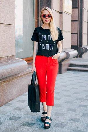Черное и красное в одежде