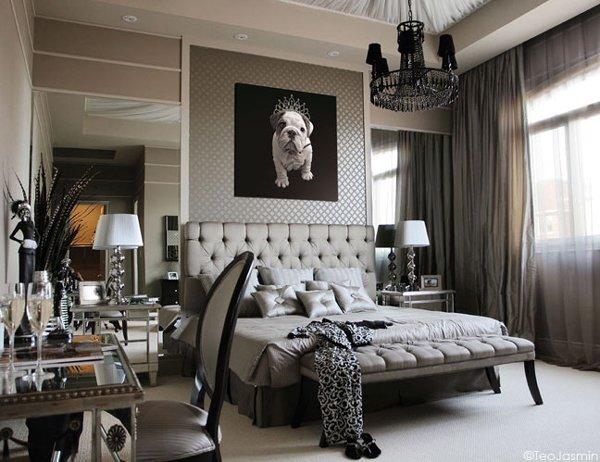 Постер в дизайне спальни