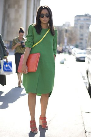 Фото зеленого платья