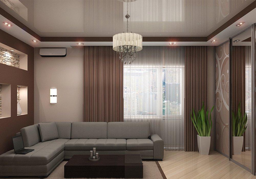 Многоуровневый свет в гостиной