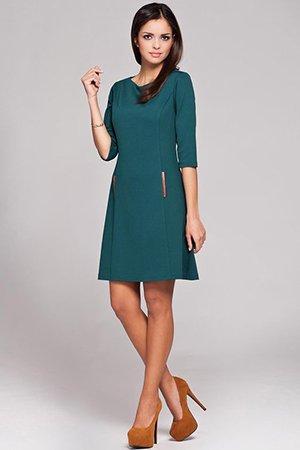 Сине-зеленое платье
