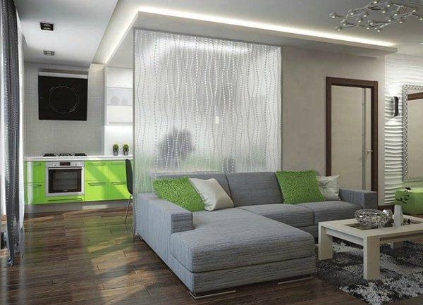 Фото квартиры студии со стеклянной перегородкой