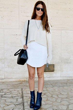 Комбинация короткой кофты и платья