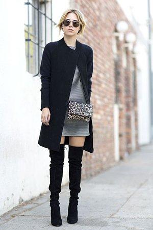 Сочетание обуви с верхней одеждой