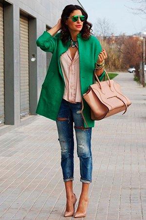 Комплект бежевой сумки и туфель