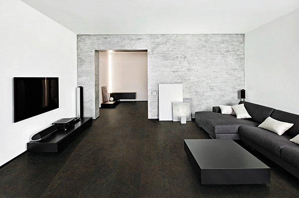 Стиль минимализм с черной мебелью