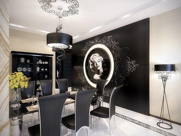 Черный интерьер в стиле модерн
