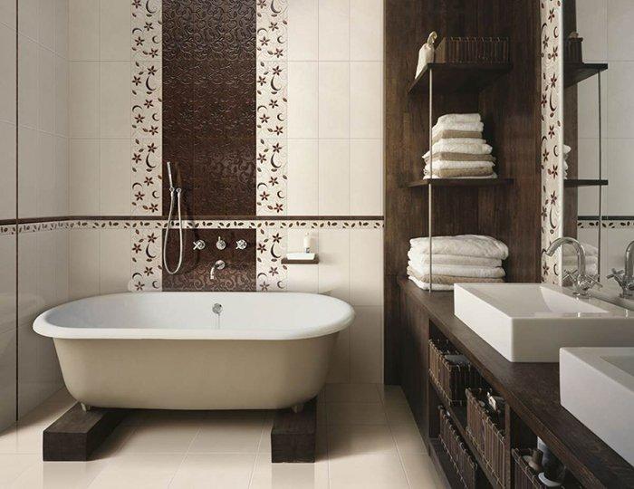 Ванная комната декорированная плиткой