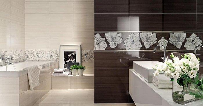 Декор картинами ванную комнату
