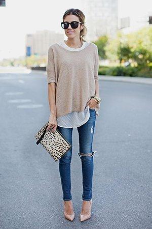 Туфли лодочки с джинсами