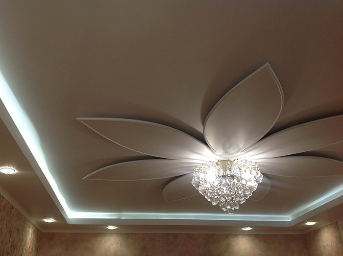 Дизайн потолка со светодиодами