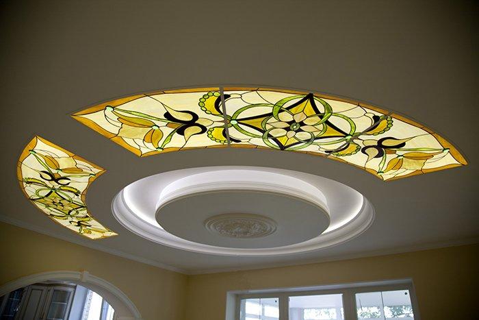 Фото идеи оформление потолка с подсветкой