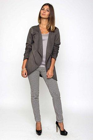 Серый жакет с брюками