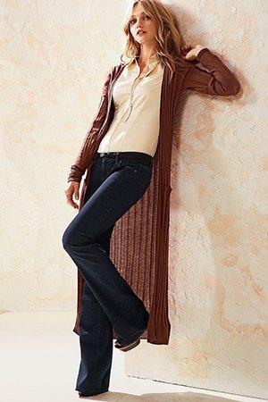 Сет из кардигана и классических брюк