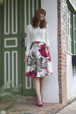 Туфли под цвет принта юбки
