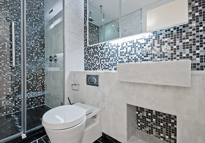 Ванная комната декорированная мозаикой