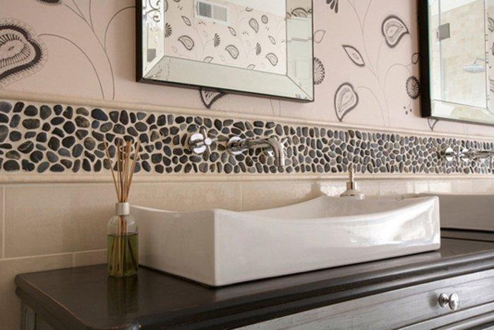 Декор стен в ванной