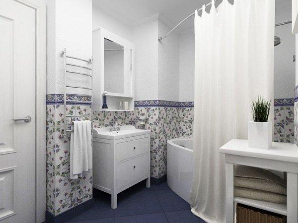 Мебель в ванной в стиле прованс
