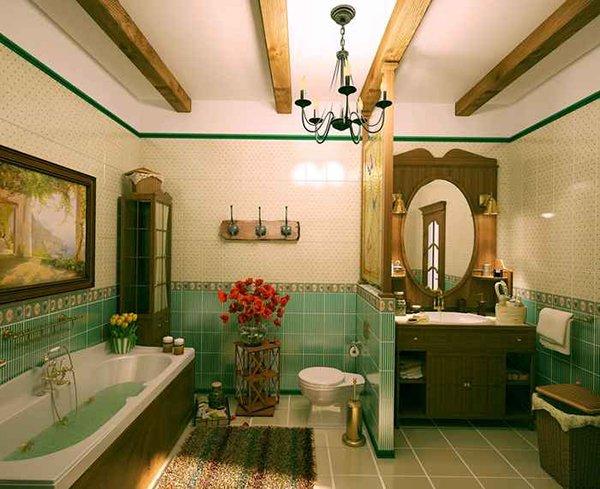 Балки в ванной
