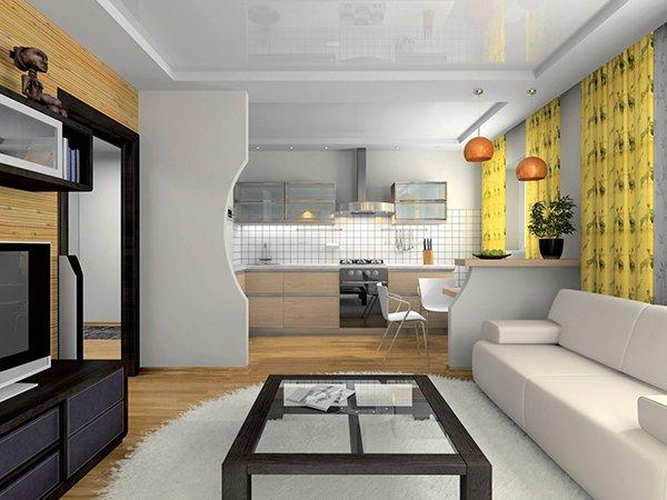 Фото планировки деления квартиры на зоны