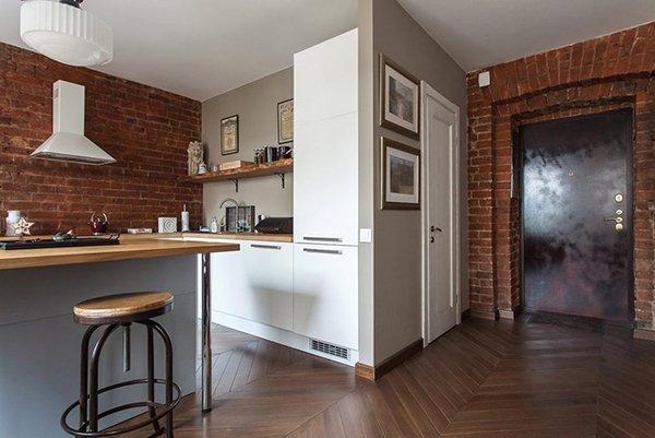 Расположение кухни в нише