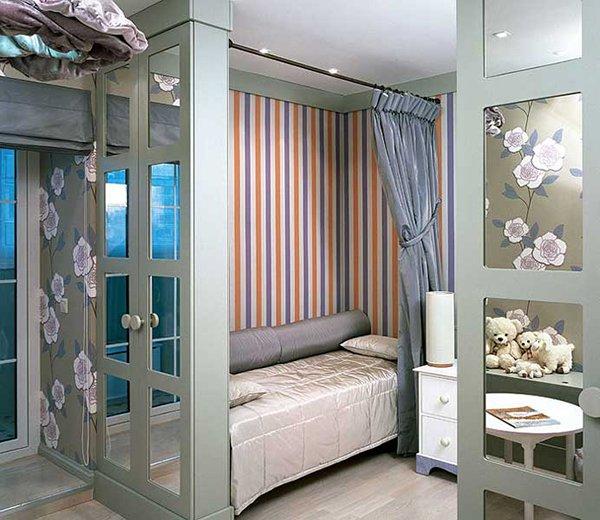 Дизайн комнаты детской с перегородкой